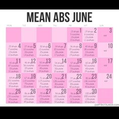 Junes my goal date for abs! Mean abs June Workout