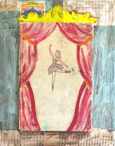 ballerina takes the stage art print vintage book on Etsy, $19.00