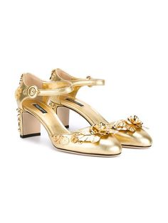 Dolce & Gabbana Mary Jane embellished pumps