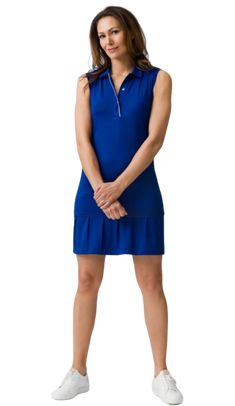 If you're in the market for some new outfits, consider our women's apparel! Shop this comfortable and stylish CONSCIOUS GOLF (Night Blue) Daily Sports Ladies & Plus Size Rita Sleeveless Golf Dress from Lori's Golf Shoppe.