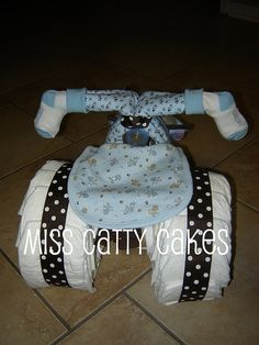 Tricycle Diaper Cake - Back