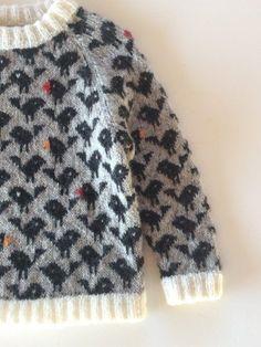 Ravelry: bird pattern by Lone Kjeldsen Knitting is a method by which string is usually Knitting For Kids, Knitting For Beginners, Baby Knitting, Crochet Baby, Knit Crochet, Ravelry, Pull Bebe, Baby Pullover, Fair Isle Knitting