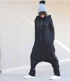 Maternity Low Crotch Overall with Hood Oversized Maxi Jumpsuit with Long Sleeves Maternity Zipped Oversize Romper Soft Adult Onesie Pijama Tesettür Şalvar Modelleri 2020 Baggy Jumpsuit, Plus Size Jumpsuit, Black Jumpsuit, Bodycon Jumpsuit, Ladies Jumpsuit, Cotton Jumpsuit, Rompers Women, Jumpsuits For Women, Moda Femenina