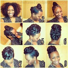Braided up do. Gorgeous!