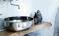 design waschbecken rund silber orientalisch marokkanisches design taoofsophia