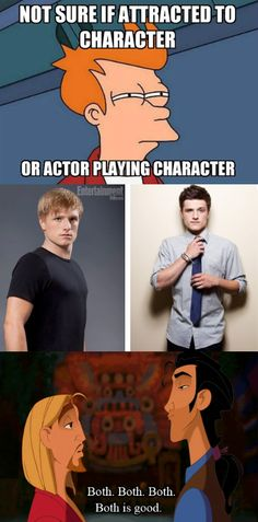 Not sure if attracted to character or actor. Both is good. I LOVE JHUCTH!!! ☺