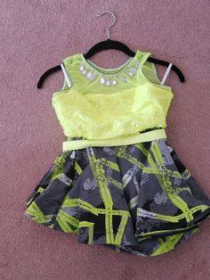 Capezio Girls 2 piece Dance Costume Pageant Jazz Tap Size XS NWOT