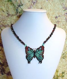 Black-veined Hairstreak Butterfly necklace