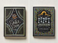 Peter Pan & Pippi Longstocking book covers