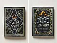 Peter Pan & Pippi Longstocking book covers
