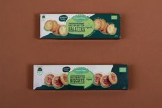 #organic #village #logo #design #packaging #biscuits #green #red #crispy #crepes #ateliernesenogay