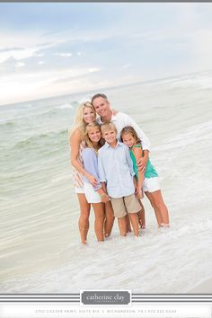 Family beach pictures, Love the colors of clothes and in the water