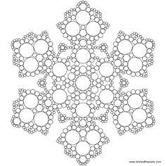 Don't Eat the Paste: Snowflake Mandala to Color