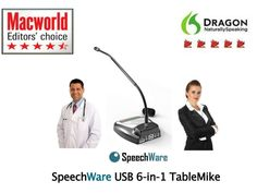 SpeechWare 6-in-1 TableMike  by KnowBrainer.com via Slideshare