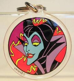 Maleficent keychain (with Dragon on reverse side)