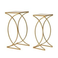 End Table Sets, End Tables, Console Tables, Gold Accent Table, Accent Tables, Nesting Tables, Vintage Metal, Gold Accents, Diamond Shapes