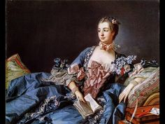 """Jeanne-Antoinette Poisson (Madame de Pompadour) was the official mistress of Louis XV. She appreciated art and employed the Rococo style and also started the """"Pompadour"""" hairstyle which would become a big trend. Madame Pompadour, Marie Antoinette, Nicolas Le Floch, Georgia O'keeffe, Ludwig Xiv, Esteban Murillo, National Gallery, French History, 18th Century Fashion"""