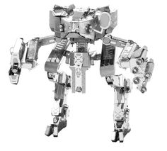 Modellino in Metallo 3D - Mantis  Il Mantis è un mezzo corazzato che appare in Halo 4 multiplayer e in varie missioni Spartan. Il nome Mantis gli è stato attribuito per la sua capacità di tendere imboscate. Questo incredibile e dettagliato modellino parte da due lamiere di metallo tagliate al laser, per terminare in un sorprendente modello in 3D. Basta seguire le facili istruzioni di montaggio e ripiegare i pezzi collegandoli ai punti di fissaggio. Non necessita di collante.