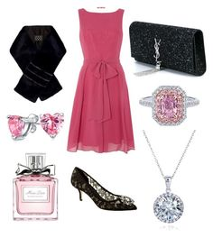 Special Night in Pink & Black by heidinoble on Polyvore featuring polyvore fashion style Ariella Dolce&Gabbana Yves Saint Laurent Bling Jewelry Kobelli Marc Jacobs Christian Dior clothing