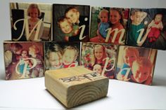 Personalized Set of 9 Photo Blocks Photo Gift by AsqueStudio, $90.00