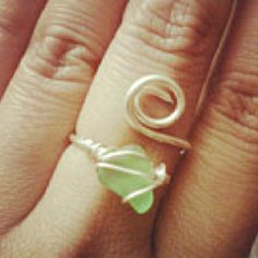 sea glass ring - I'd like this in blue