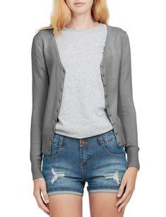 LE3NO Womens Soft Fitted Basic Cardigan Sweater | LE3NO V Neck Cardigan, Cardigan Sweaters For Women, Cardigans For Women, Sweater Cardigan, Women's Cardigans, Long Blazer Jacket, Cropped Denim Jacket, Ripped Denim, Denim Jeans