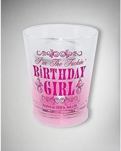 2 oz F'in Birthday Girl Light Up Shot Glass - Spencer's