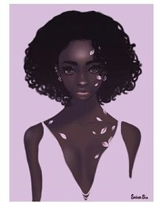 Art prints available on my INPRNT shop ☺ ☺ ☺  https://www.inprnt.com/profile/sainasix/  #illustration #portrait #fashion #Sakura #darkskinned #melanin #blackartists #blackgirlmagic #hairlove