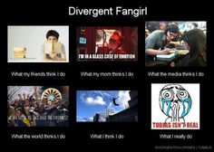 Divergent Fangirls. I will not say that this is not me.