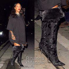 Rihanna x Manolo Blahnik new design, stay tuned!