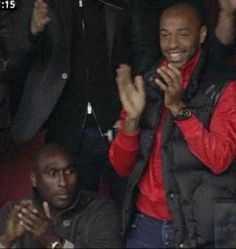 Thierry Henry and Sol Campbell at Arsenal v Spurs
