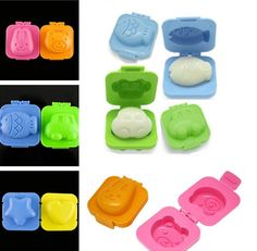 Cute 6Pcs Boiled Egg Sushi Rice Mold Bento Maker Sandwich Cutter Decorating JTV5