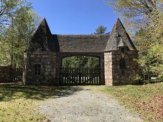 Brown Mountain Gate lodge, built in 1931/2 by John D. Rockefeller
