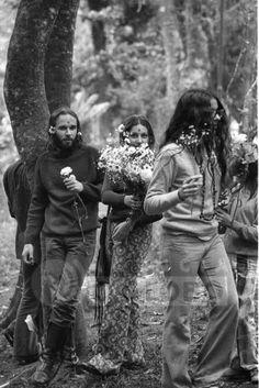 Hippies at Parque Lage, Rio de Janeiro, Brazil, 1971 by Eurico Dantas