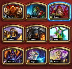 hearthstone heroes - Pesquisa Google Hearthstone Heroes, Virtual Card, Heroes Of The Storm, Free To Play, Paladin, Big Game, Priest, Free Games, Rogues