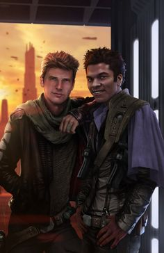 Han n Lando - before they were scoundrels, they were just a couple of hooligans - Source: rahzzah