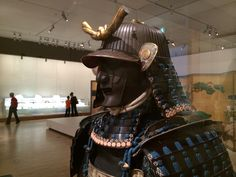 This helmet and mask was produced by one of the best armour makers of the Edo period, the Saotome school.  The Daki Kashiwan mon (double oak-leaf family crest) of the Hachisuka clan appears on the Kabuto.  This is on display at the National Gallery of Victoria (NGV), Melbourne, Australia till Nov 2014 Best Armor, Samurai Armor, Edo Period, Family Crest, Melbourne Australia, Warfare, Riding Helmets, Victoria, Japanese