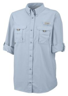 Columbia® Bahama™ Shirts for Ladies - Long Sleeve | Bass Pro Shops. A fishing shirt that's been on my mind! Small. Loving this particular color and the white. Great rating. $45.