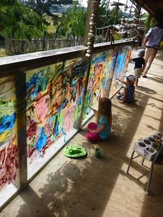 Acrylic panels for painting outside