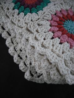 What better way to spend a day of 105*F (the third out of four) than cozied up in your purple chair, crocheting the border ar...