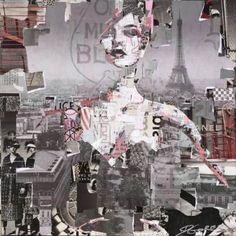 """Saatchi Art Artist Derek Gores; Collage, """"Full Volume Paris"""" #art"""