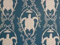 Turtle Bay wallpaper by Katie Ridder at Tissus d'Helene