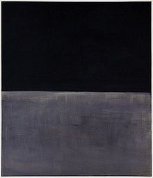"Rothko ""Untitled (Black on Gray)"" 1970, Rothko's last painting that he said were about desolation and death."
