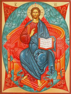 christ enthroned - for dad Images Of Christ, Pictures Of Christ, Religious Images, Religious Icons, Religious Art, Byzantine Icons, Byzantine Art, Early Christian, Christian Art
