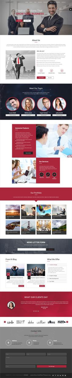 LeoHunt is clean and modern design multipurpose responsive #Joomla template for #onepage #business agencies website with 12 niche homepage layouts & page builder download now..
