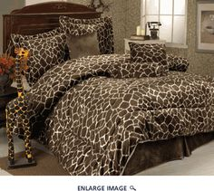 7 Piece Queen Giraffe Animal Kingdom Bedding Comforter Set for sale online Animal Kingdom, Giraffe Bedroom, Giraffe Decor, Safari Bedroom, Cheetah Bedroom, Animal Print Bedding, Animal Prints, Bed In A Bag, Comforter Sets