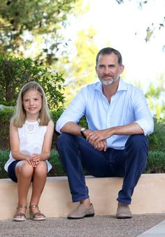 King Felipe and his youngest daughter, Infanta Sofia.