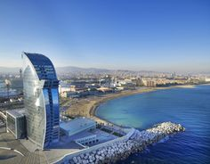 The W Hotel In Barcelona Was Designed By Spanish Architect Ricardo Bofill 24 Story Sail Shaped Completed This Stunning Enjoys