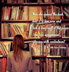 Then she opened the book, held it to her nose, and took a long whiff - The Little Paris Bookshop