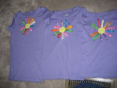 Daisy Girl Scout shirt craft-love the idea of the girls making their own matching shirts this year!